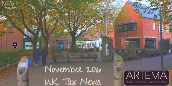 November 2016 UK Tax News